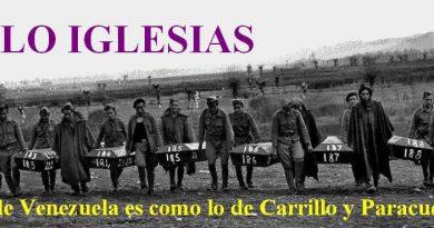 Lo de Venezuela es como lo de Carrillo y Paracuellos