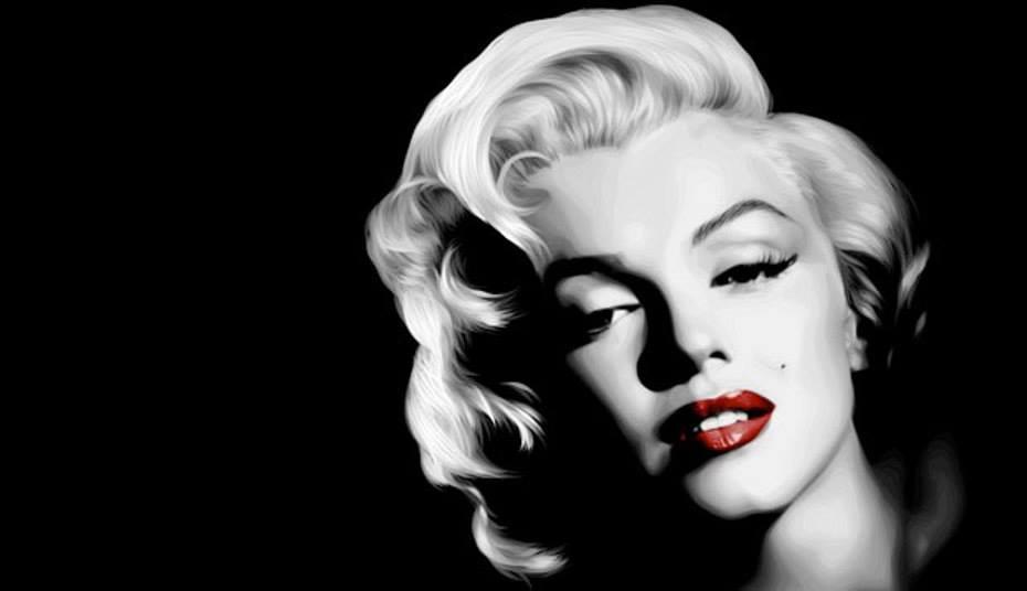 los labios rojos de Marilyn
