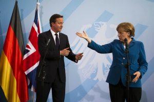 Una de Brexit. Cameron y Merkel