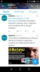 respuesta pública de Balearia