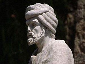 Estatua de  Averroes en Cordoba 1993 Cordoba, España