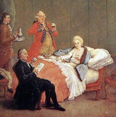 óleo de Pietro Longhi, do século XVIII. Por trás do sabor da bebida também usada no tratamento de doenças, estava a arte dos mestres chocolateiros