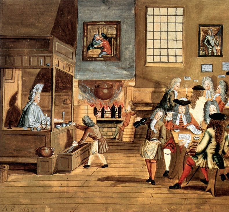 Los primeros rastros del mercado del chocolate en Bégica aparecen en 1635 en Gante al comprar el abad de la abadía Baudeloo chocolate. Allí la producción de chocolate es una actividad secundaria de los farmacéuticos que lo venden como medicamento