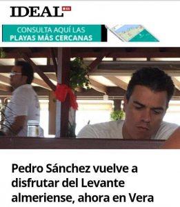 Pedro Sánchez en Mojacar