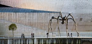 El Museo Guggenheim en Bilbao.