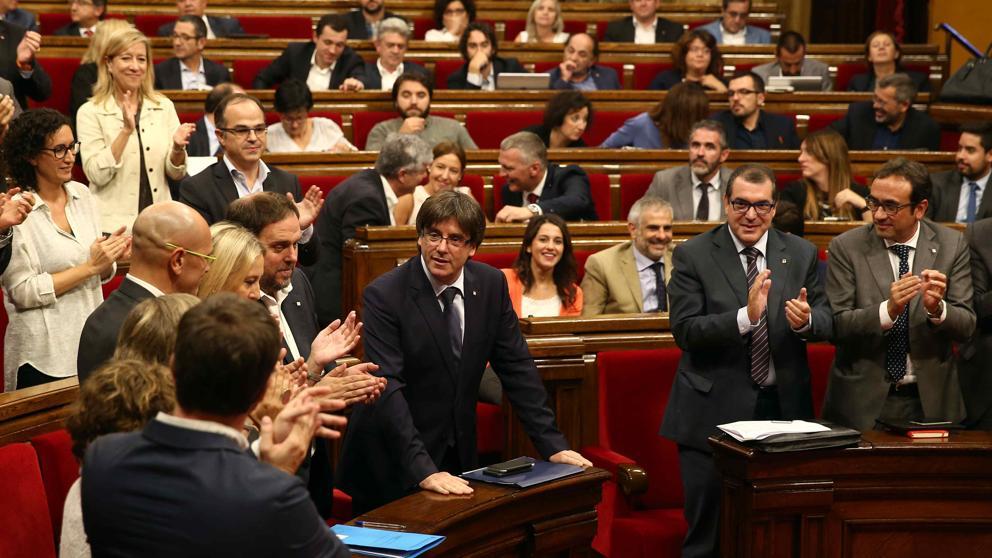 El Pleno del Parlamento caalán sobre presupuestos