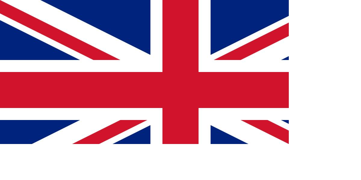 """La bandera de la Unión presenta la cruz roja de San Patricio, en aspas, """"quebrada"""" bajo la inglesa de San Jorge como símbolo de dominación sobre Irlanda."""