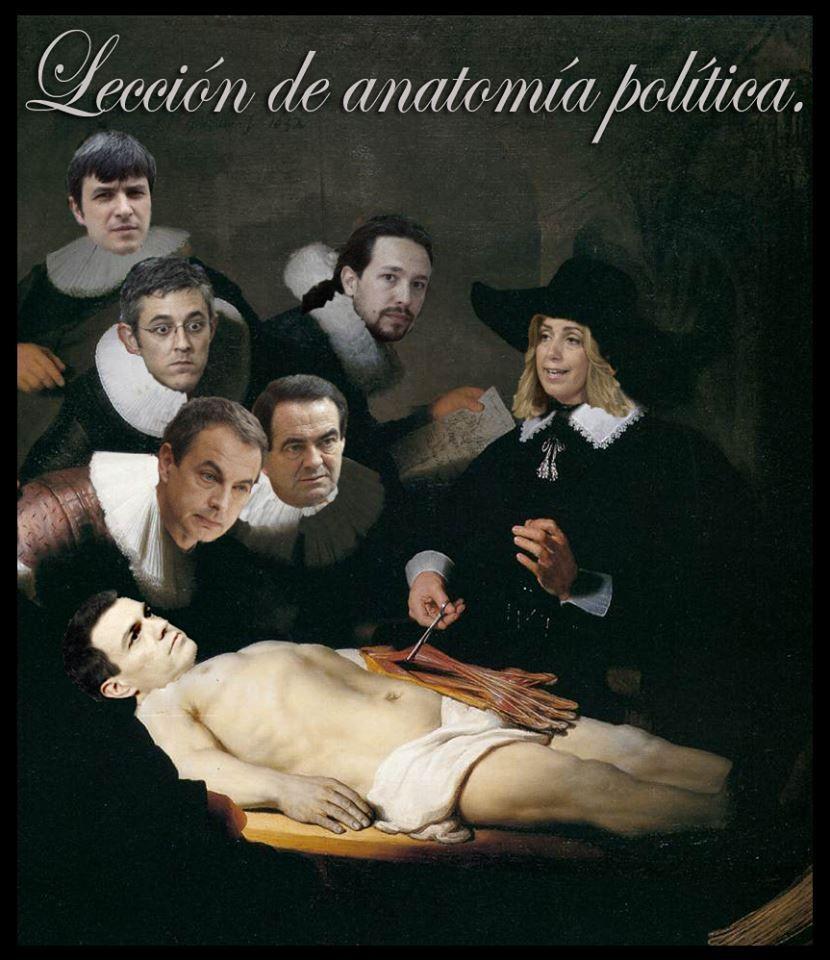 Lección de Anatomía Política. Ilustración de Rafael Herrera