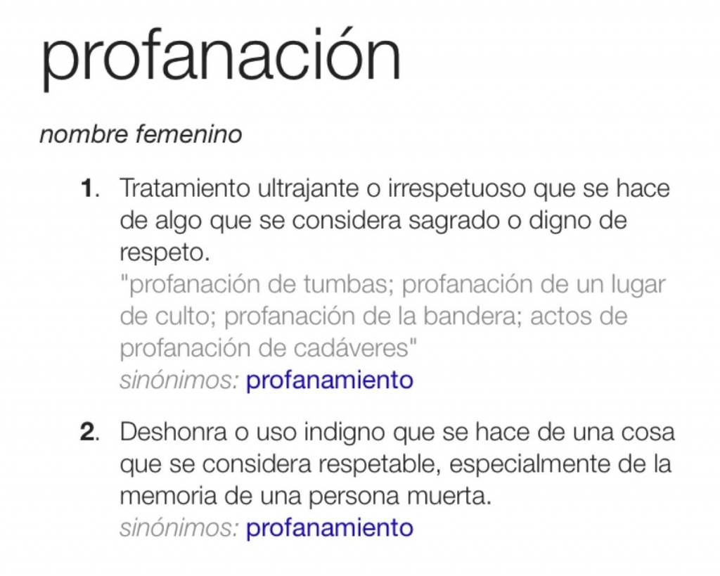 profanacion