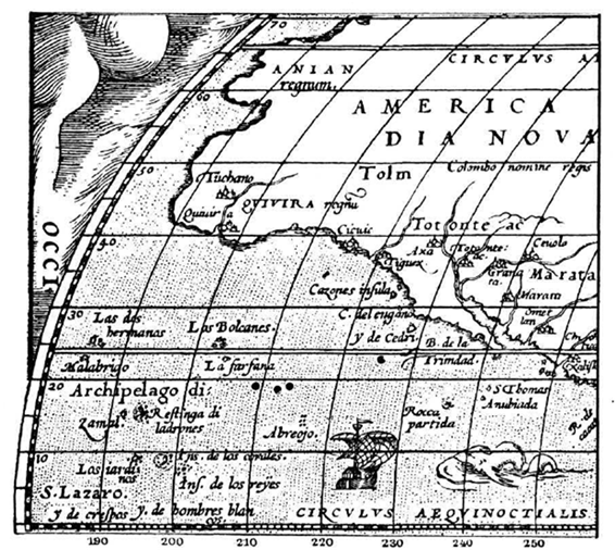 """America sive India Nova"" (América o Nuevas Indias) 1613. Michael Mercator (1567-1614)"