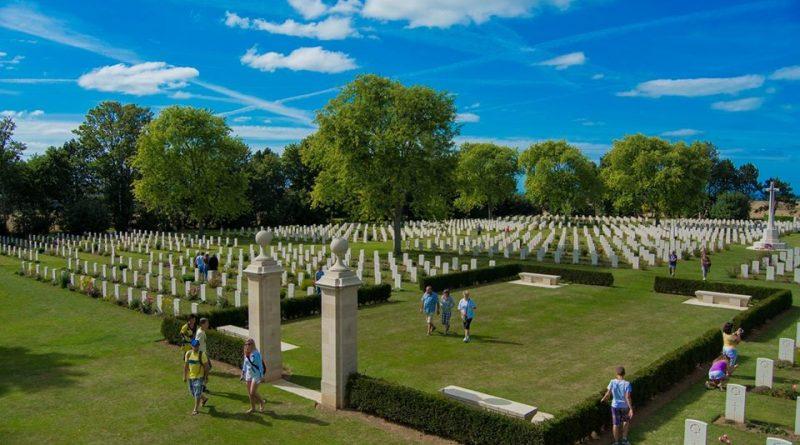 Cementerio de la playa de Normandía. Foto de Rodolfo Arévalo