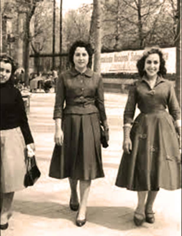 Jovenes en el Madrid de la posguerra. 1950