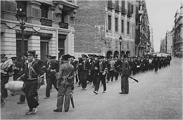 La Guardia Civil se hizo cargo de la detención y custodia de los Mozos de Escuadra