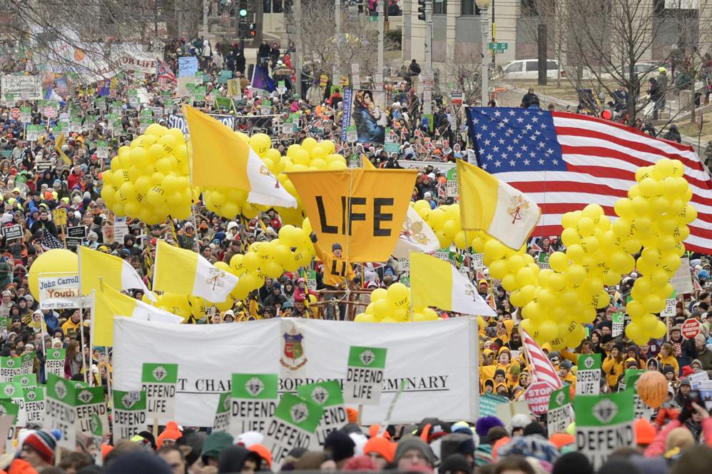 Marcha por la vida en Washington. EFE/EPA/MICHAEL REYNOLDS