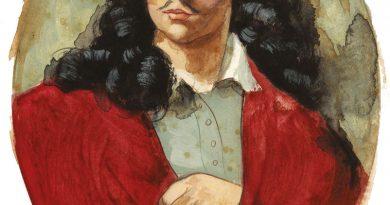 Molière, pintado al óleo