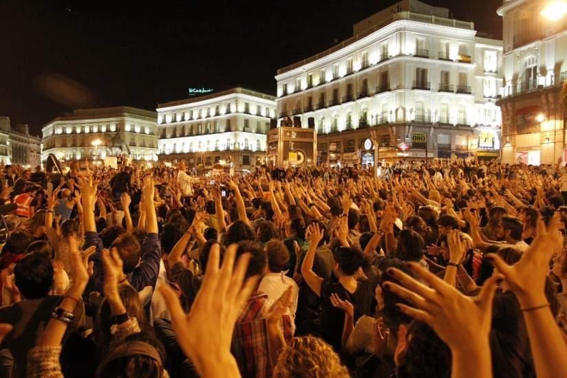 El 15-M en la Puerta del Sol