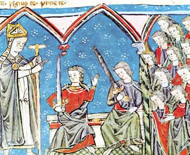 AlfonsoVII recibe vasallaje de Ramón berenguer IV