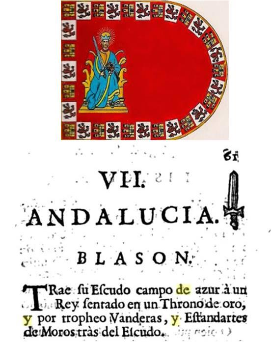 Arriba auténtico pendón o bandera de Sevilla