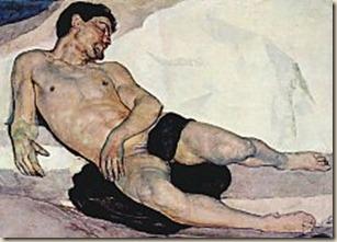 Death of Onan. by Franc Lanjšček