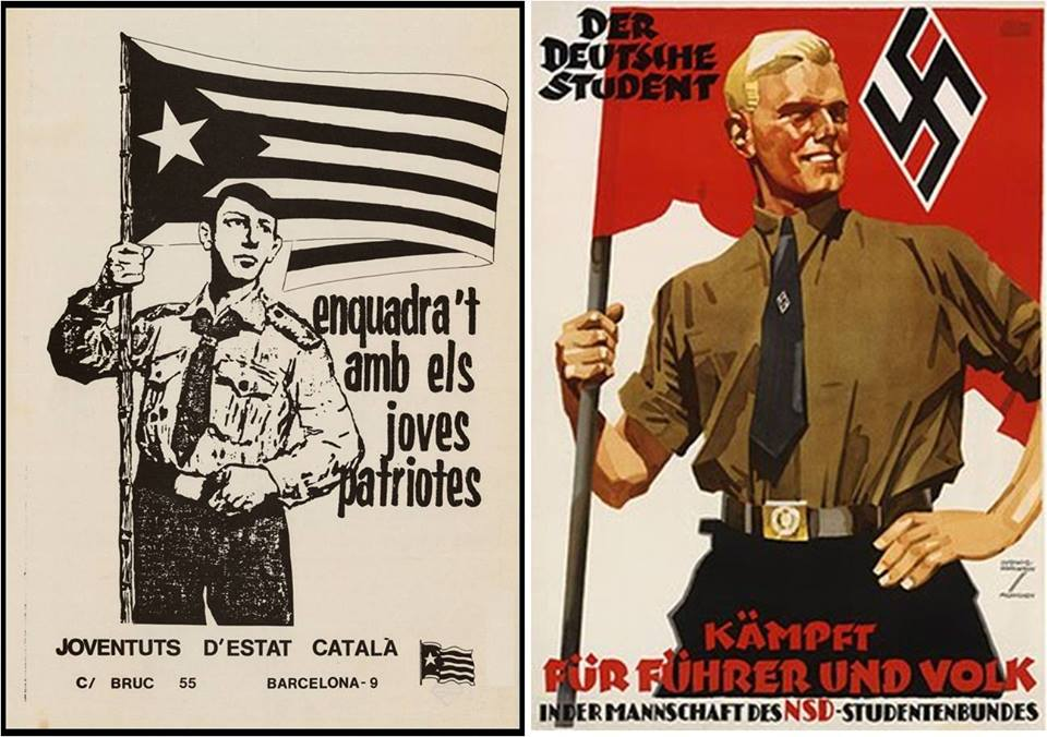 Las juventudes del estado catalán y las del tercer Reich