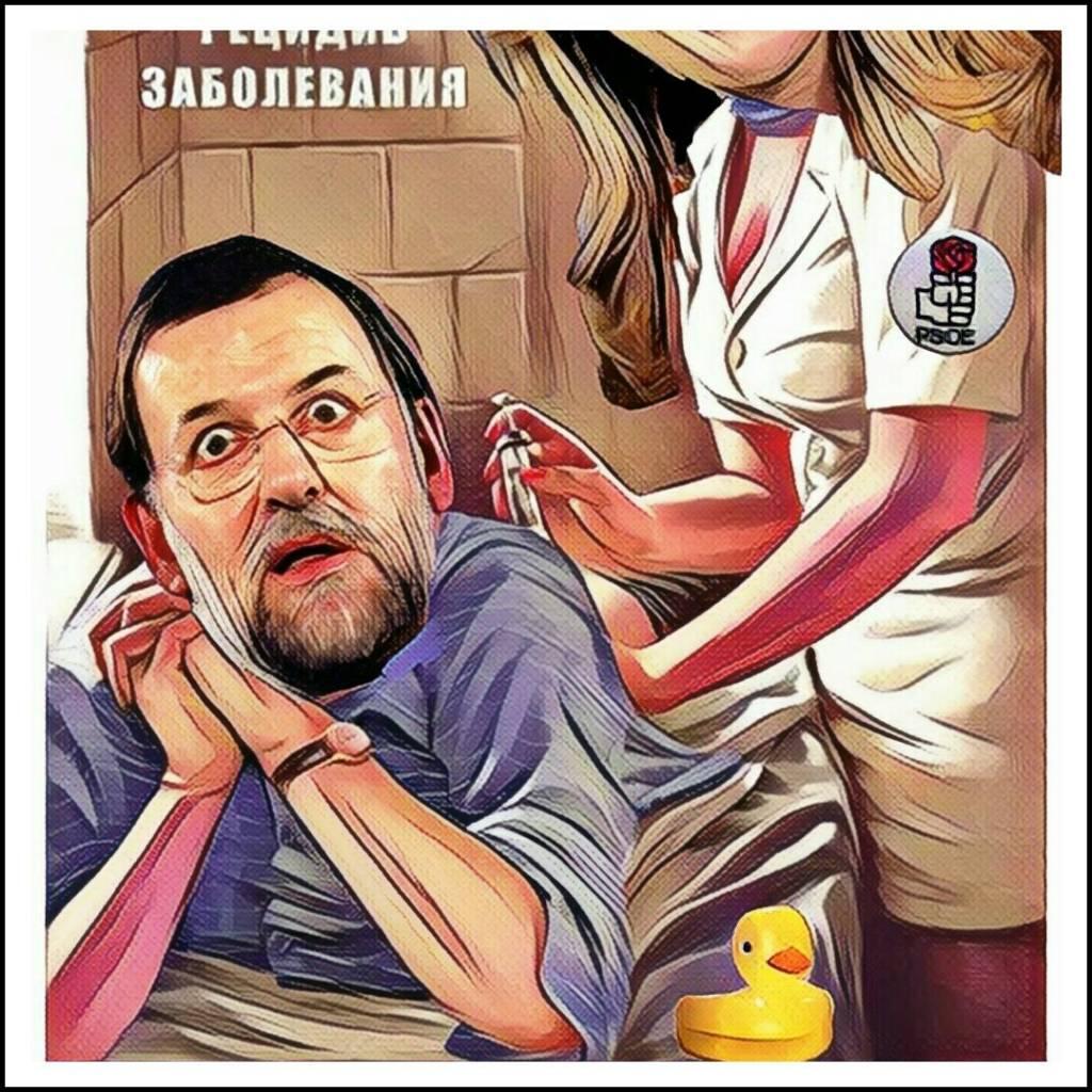 Mariano en la enfermería. Ilustracinó de Linda galmor