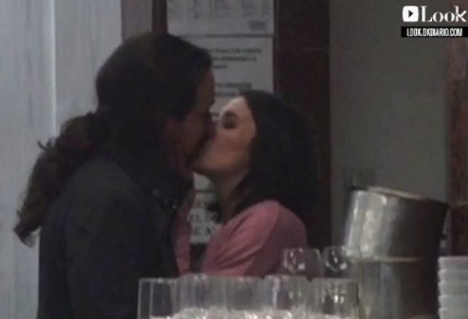 Pablo Iglesias e Irene Montero, pillados besándose