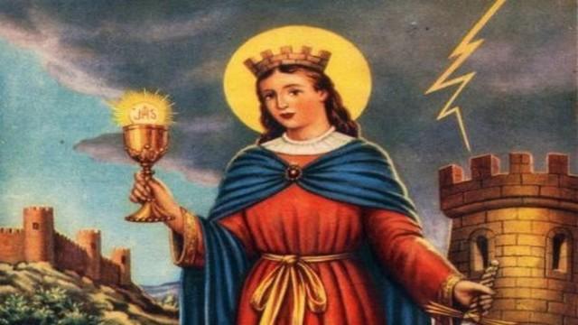 Santa Bárbara Bendita, patrona de los militares y mineros