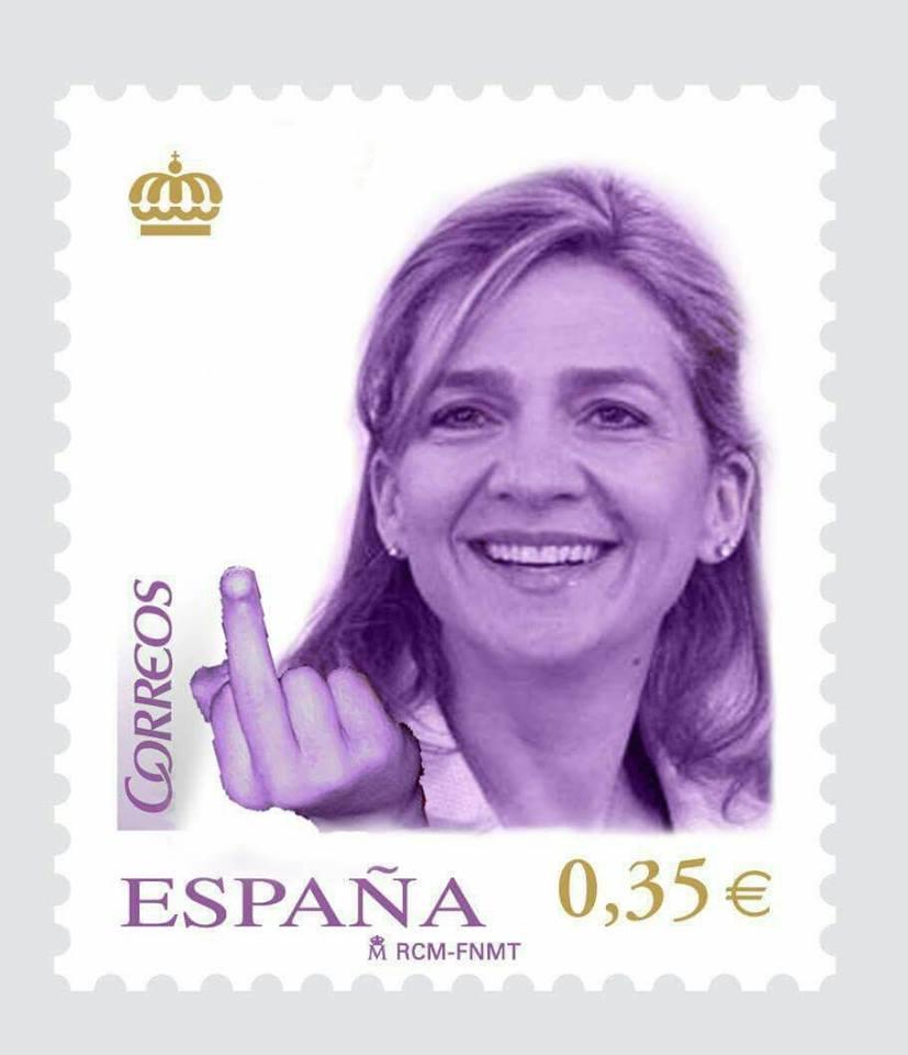 la infanta saluda a todos los españoles