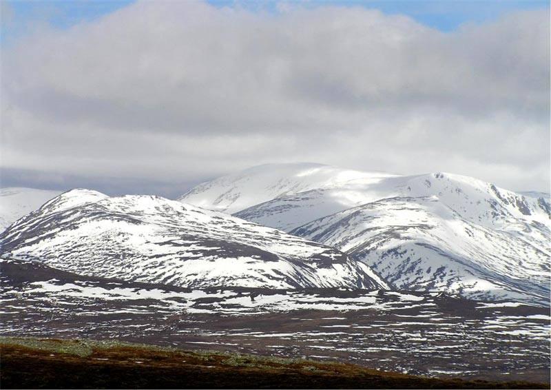 los pasos de Ben Macdui, el pico más alto de Cairngorms, el segundo en altura de todas las islas británicas