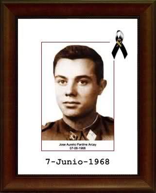 1968. 7 de Junio. El Guardia Civil de la Agrupación de Tráfico JOSÉ ÁNGEL PARDINES ARCAY, se convertía en el Primer GUARDIA CIVIL asesinado por ETA