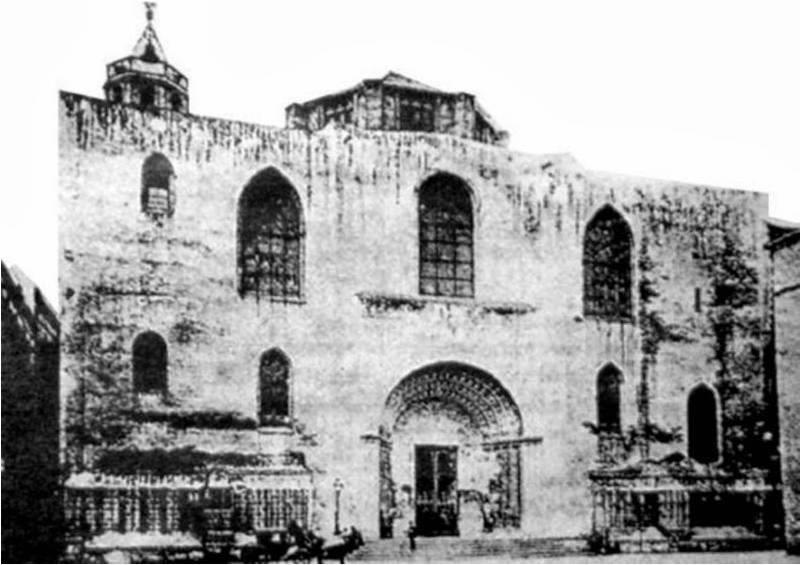 Catedral de Barcelona 1880. Nada que ver con su recreación y aspecto actual