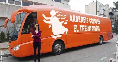 El Ayuntamiento de Madrid tomará medidas con el autobús de Hazte Oír por si hay un delito de incitación al odio