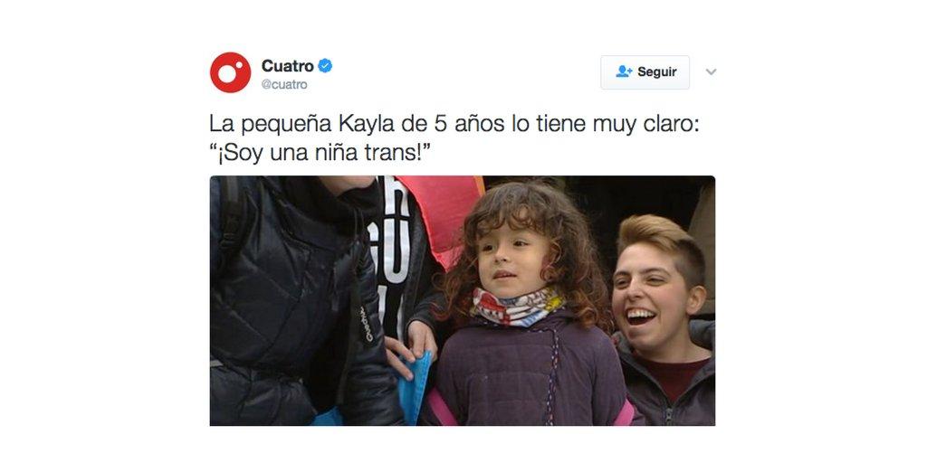 La niña de cinco años que ha publicitado la cadena Cuatro