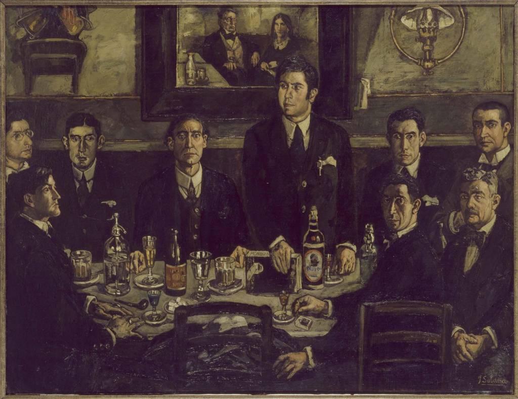 La tertulia del Café de Pombo. Obra de José Solana