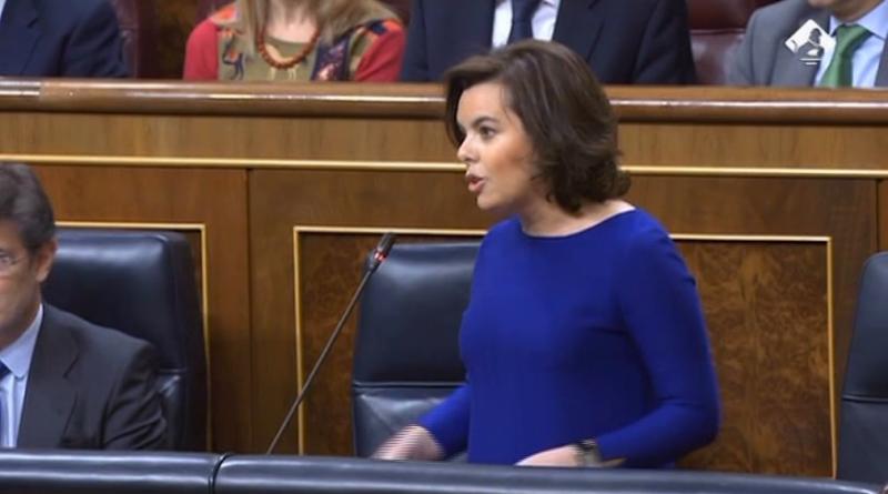 Santamaría reprocha a Podemos sus malas formas