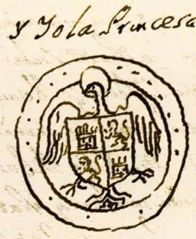 Sello personal de Isabel la Católica como princesa de Asturias