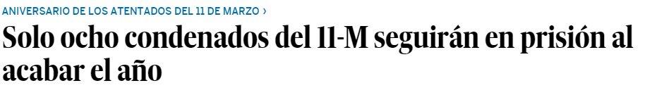 Titular hoy en El País