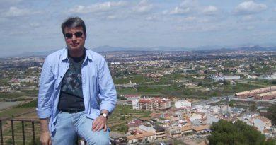 Policarpo  en el Santuario de la Virgen de la Fuensanta, Patrona de Murcia, donde iré e