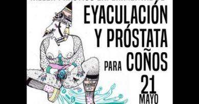 Cartel del taller de eyacilación anarco-feminista en Oviedo