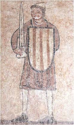 Detalle de una pintura mural