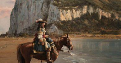 Diego de Salinas justo antes de abandonar Gibraltar. Obra de Augusto Ferrer Dalmau