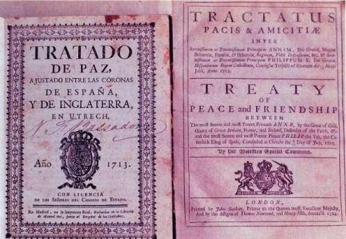 Ejemplar del Tratado de Utrecht