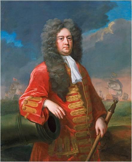 El almirante Rooke, obra de Michael Dahl, 1705