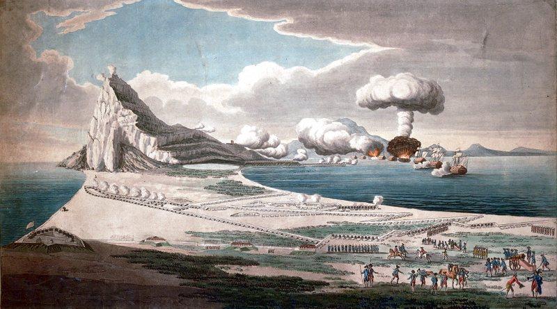 En 1779 se inicia el Gran Sitio de Gibraltar, última ocasión en que España intentó recuperar el peñón militarmente con los franceses como aliados.