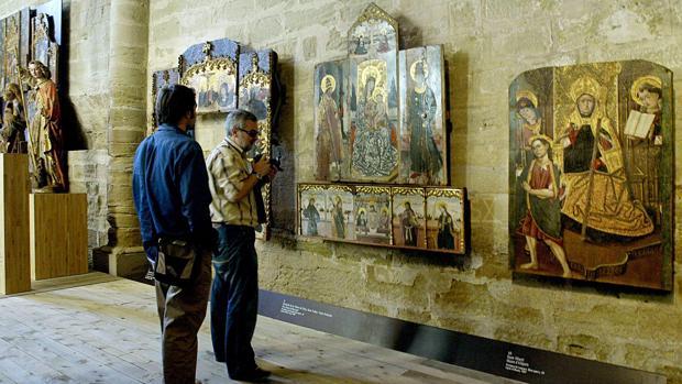 Las disputadas obras de arte objeto de litigio siguen retendias en el Museo de Lérida