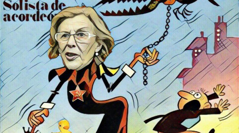 Madrid en manos de irresponsables. Ilustración de Linda Galmor