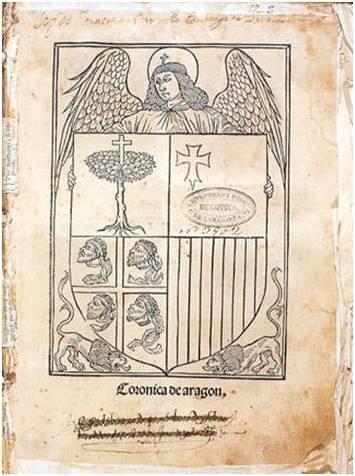 Representación del blasón de Aragón
