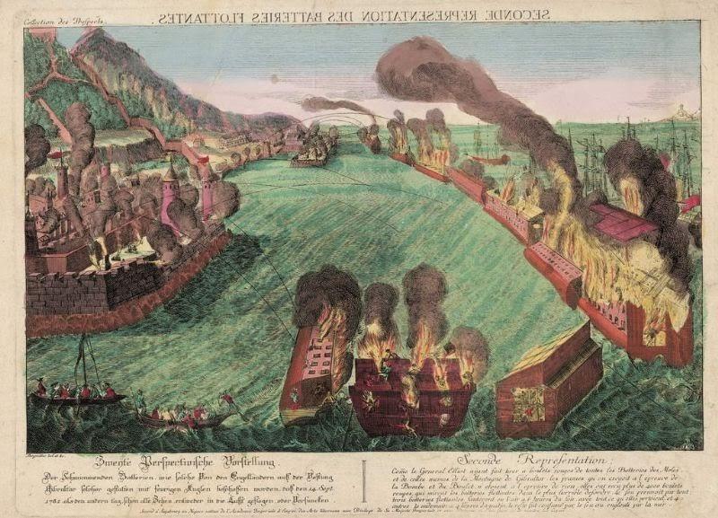 Sitio de Gibraltar 1781. Baterías flotantes