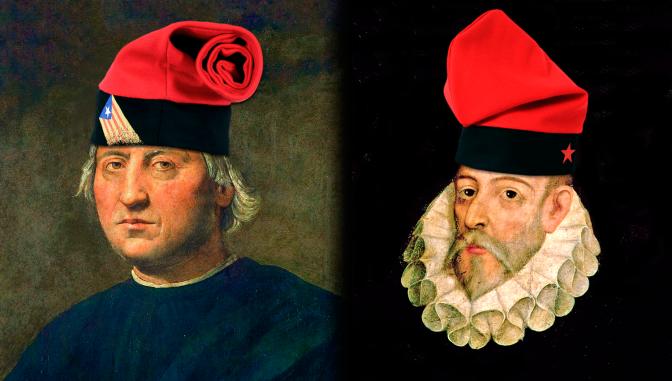 Colón y Cervantes, catalanes
