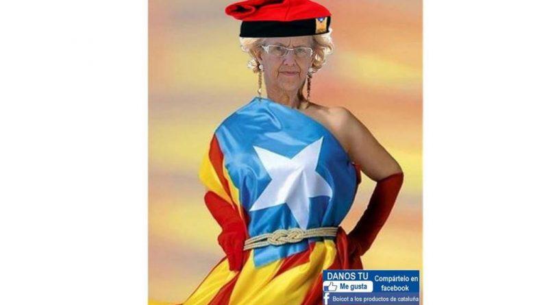 La alcaldesa de Madrid, Manuela Carmena, acoge en dependencias del Ayuntamiento de la capital un acto de la Generalidad catalana
